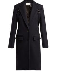 Chloé - Martingale-trim Wool-blend Coat - Lyst