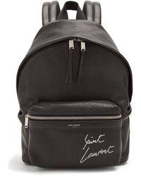 Saint Laurent - City Mini Leather Backpack - Lyst