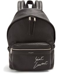 Saint Laurent - City Mini Leather Backpack - Lyst