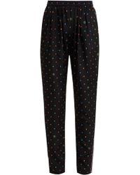 Stella McCartney - Christine Print Silk Trousers - Lyst