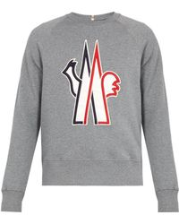 Moncler Grenoble   Logo-embroidered Cotton Sweatshirt   Lyst