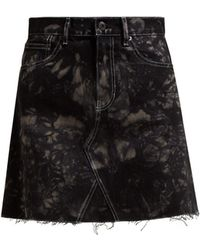 Proenza Schouler - Bleached Denim Mini Skirt - Lyst