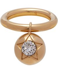Burberry - Crystal Embellished Sphere Ring - Lyst