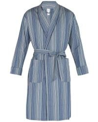 Paul Smith - Striped Cotton Robe - Lyst