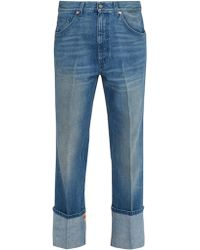 Gucci | Web-trimmed Straight-leg Jeans | Lyst