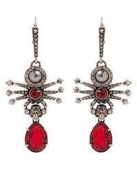 Alexander McQueen - Embellished-spider Earrings - Lyst