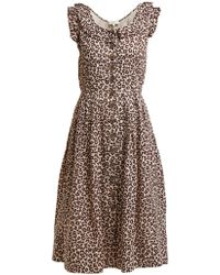 Sea - Lottie Leopard Print Midi Dress - Lyst