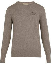 Burberry - Malcolm Logo-embroidered Cashmere Jumper - Lyst
