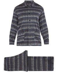 Meng - Geometric-print Silk-satin Pyjama Set - Lyst