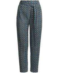 Pleats Please Issey Miyake - Batik-print Slim-leg Pleated Trousers - Lyst