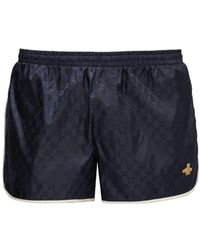 Gucci Gg Quick Drying Swim Shorts - Blue