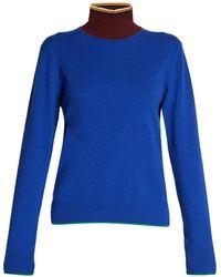 Marni - Colour-block High-neck Sweater - Lyst