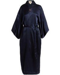 Chufy - Embroidered Silk Kimono Jacket - Lyst