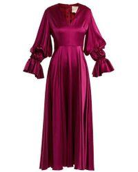 ROKSANDA - Lavonne V-neck Silk Dress - Lyst