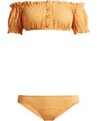 Lisa Marie Fernandez - Leandra Off-the-shoulder Bikini - Lyst