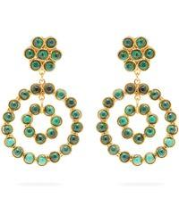 Sylvia Toledano - Malachite Embellished Hoop Drop Earrings - Lyst