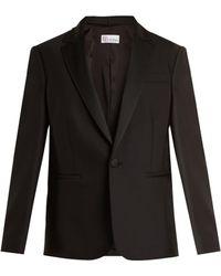 RED Valentino | Satin-lapel Wool-blend Jacket | Lyst