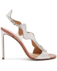 Francesco Russo - Wavy Slingback Leather Sandals - Lyst