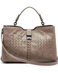 c640703d50 Bottega Veneta Napoli Small Intrecciato Leather Cross-body Bag in ...
