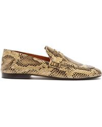 Isabel Marant - Fezzy Snakeskin Effect Leather Penny Loafers - Lyst