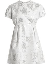 Emilia Wickstead - Arielle Floral-jacquard Mini Dress - Lyst