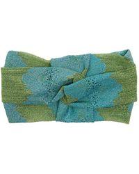 Missoni - Striped Eyelet-knit Headband - Lyst
