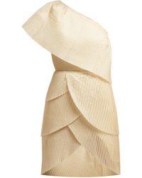 Aje. - Blythe Asymmetric Pleated Mini Dress - Lyst