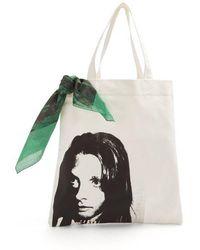 CALVIN KLEIN 205W39NYC - Face-print Canvas Tote Bag - Lyst