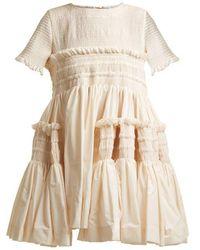 Molly Goddard - Lynette Smocked Cotton-poplin Dress - Lyst