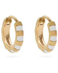 Marc Alary - Enamel & Yellow-gold Earrings - Lyst