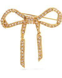 Oscar de la Renta - Broche nœud à ornements cristaux - Lyst