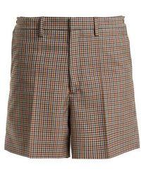 Maison Margiela - Wide-leg Checked Wool-blend Shorts - Lyst