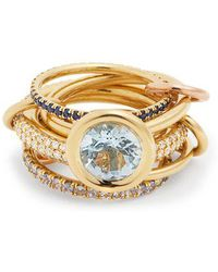 Spinelli Kilcollin - Rana Diamond, Yellow-gold & Rose-gold Rings - Lyst