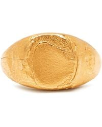 Alighieri - False Promises Gold-plated Signet Ring - Lyst