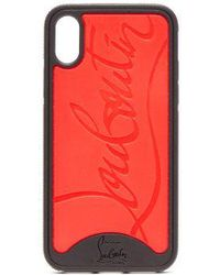 Christian Louboutin - - Loubiphone Logo Iphone® X Case - Womens - Black Red - Lyst