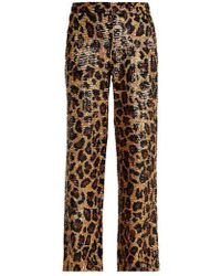 Ashish - Leopard Sequin-embellished Cotton Trousers - Lyst