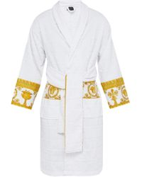 Versace - I Love Baroque Logo Jacquard Cotton Bathrobe - Lyst