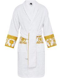 Versace - Peignoir en coton à jacquard logo I Love Baroque - Lyst