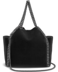 Stella McCartney - Falabella Mini Velvet Reversible Cross-body Bag - Lyst