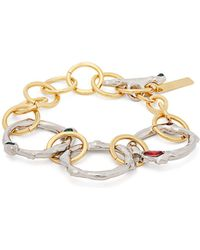 Marni - Crystal-embellished Chain-link Bracelet - Lyst