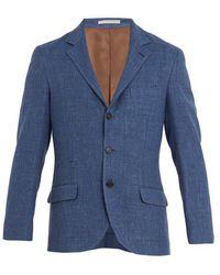 Brunello Cucinelli - Single-breasted Wool-blend Blazer - Lyst