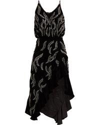 Dodo Bar Or Agnes Bead Embellished Velvet Dress - Black