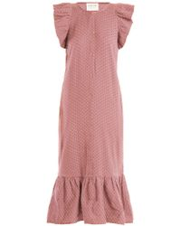 Cecilie Copenhagen - Jehro Scarf Jacquard Cotton Dress - Lyst