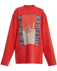 Vetements - X Tommy Hilfiger Logo-print Cotton Sweatshirt - Lyst