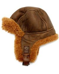 Isabel Marant - - Airy Shearling Aviator Hat - Womens - Brown - Lyst