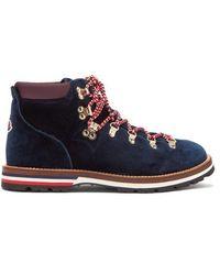 Moncler - Blanche Velvet Lace-up Mountain Boots - Lyst