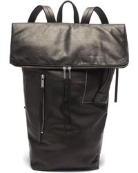 Rick Owens - Leather Duffle Backpack - Lyst