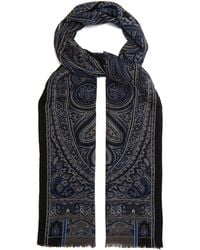 Etro - Paisley-print Wool And Cashmere-blend Scarf - Lyst