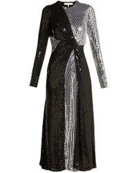 Galvan London - Pinwheel Sequinned Silk Dress - Lyst