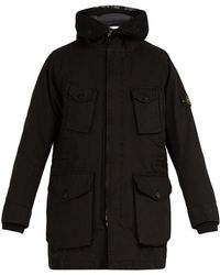 Stone Island - Long-line Down-filled Hooded Coat - Lyst